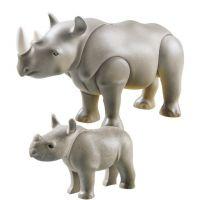 Playmobil 6638 Nosorožec s mládětem 3