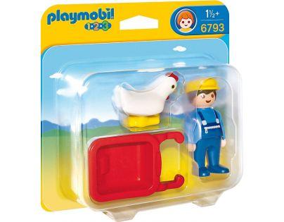 Playmobil 6793 Farmář s kolečkem