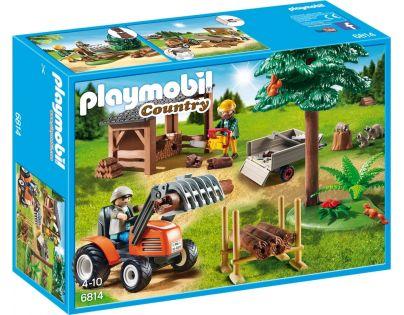 Playmobil 6814 Dřevorubci s traktorem