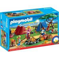 Playmobil 6888 Stanový tábor s LED táborákem