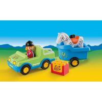 Playmobil 6958 Auto s koňským přívěsem 2