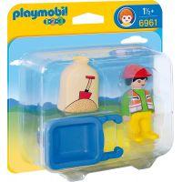 Playmobil 6961 Stavební dělník s kolečkem