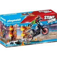 PLAYMOBIL® 70553 Kaskadérská show Motorka s ohnivou stěnou 6