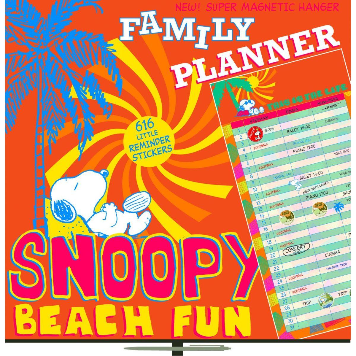 Plánovací Snoopy, poznámkový kalendář 2013, 30 x 60 cm