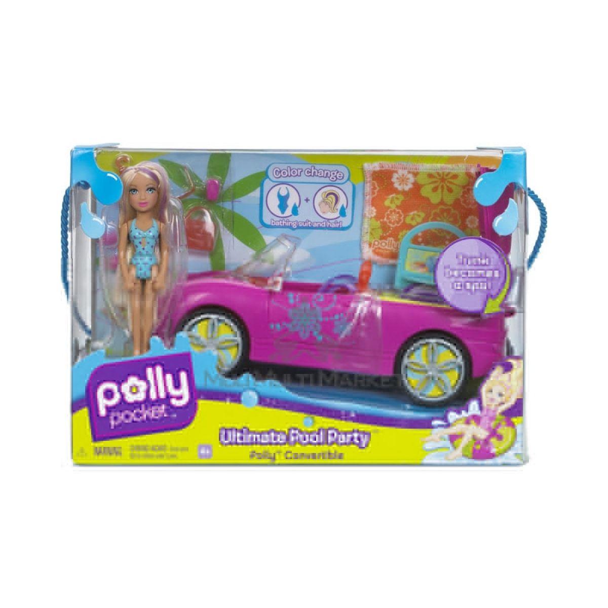 Polly Pocket M3843 - Plážové auto s panenkou