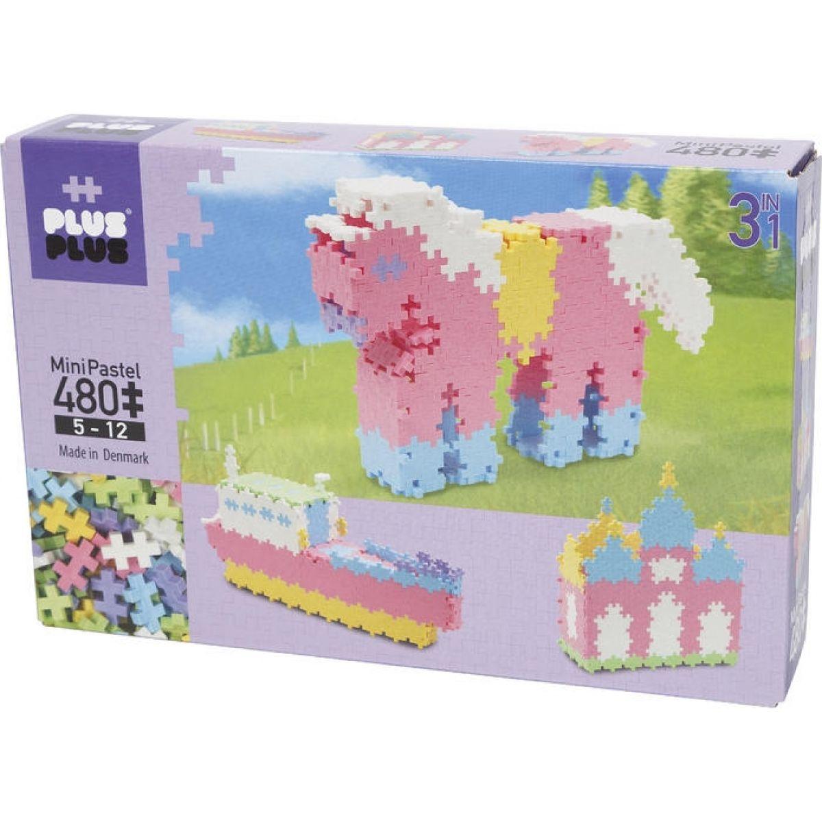 Plus Plus Mini Pastel 480, 3 v 1