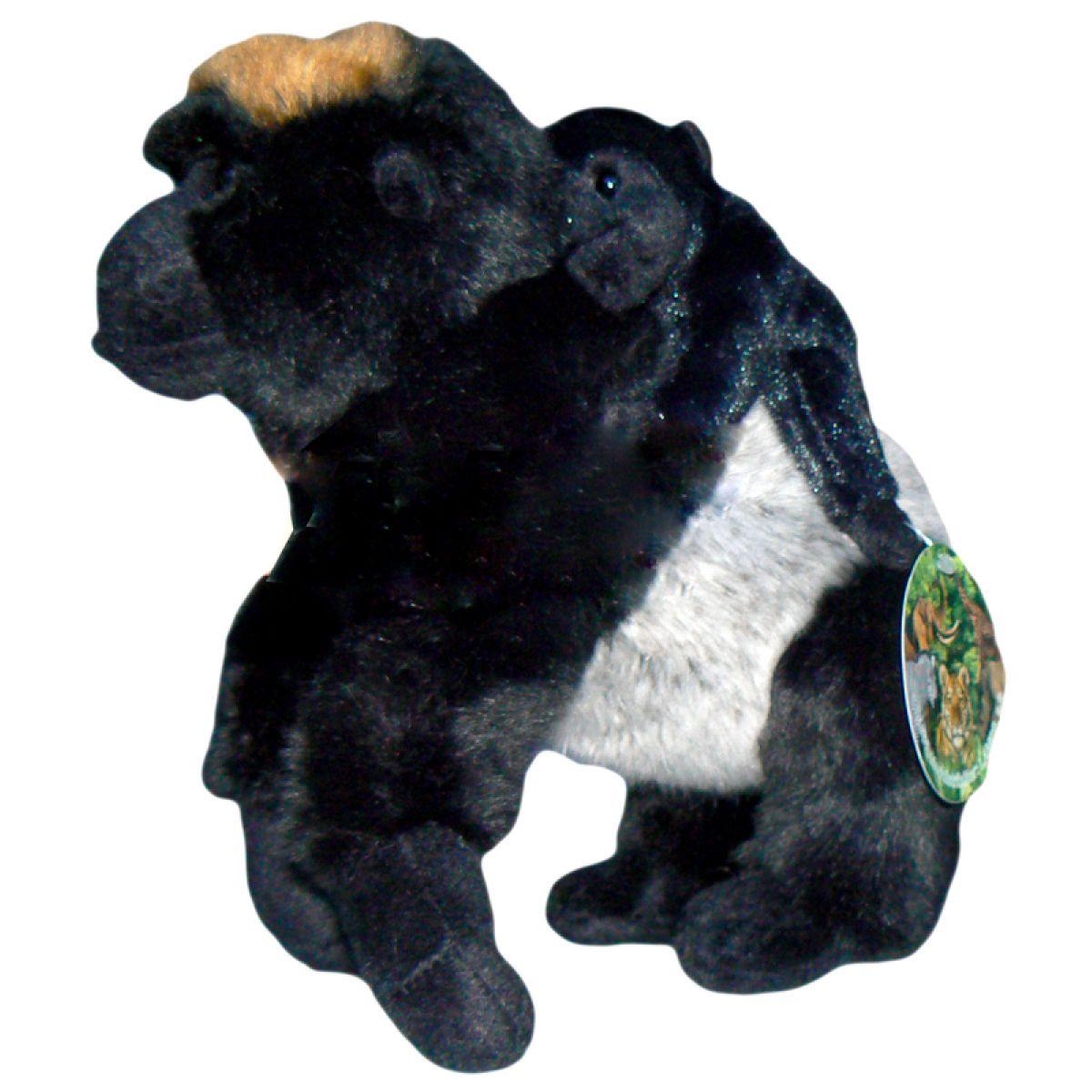 Plyšová gorila a mládě 24 cm