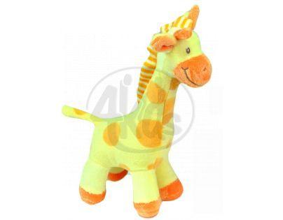 Plyšová žirafa stojící 24 cm - Žlutá