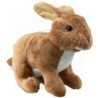 Plyšový králík 18 cm - Hnědá