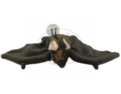 Plyšový netopýr s přísavkou 24 cm - Hnědá tmavá