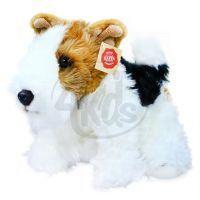 Plyšový pes foxteriér Dášenka 30 cm