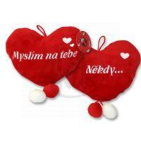 Plyšové srdce 20 cm 2