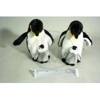 Plyšový tučňák s mládětem 27cm 2