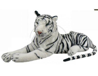 Plyšový tygr bílý 80 cm