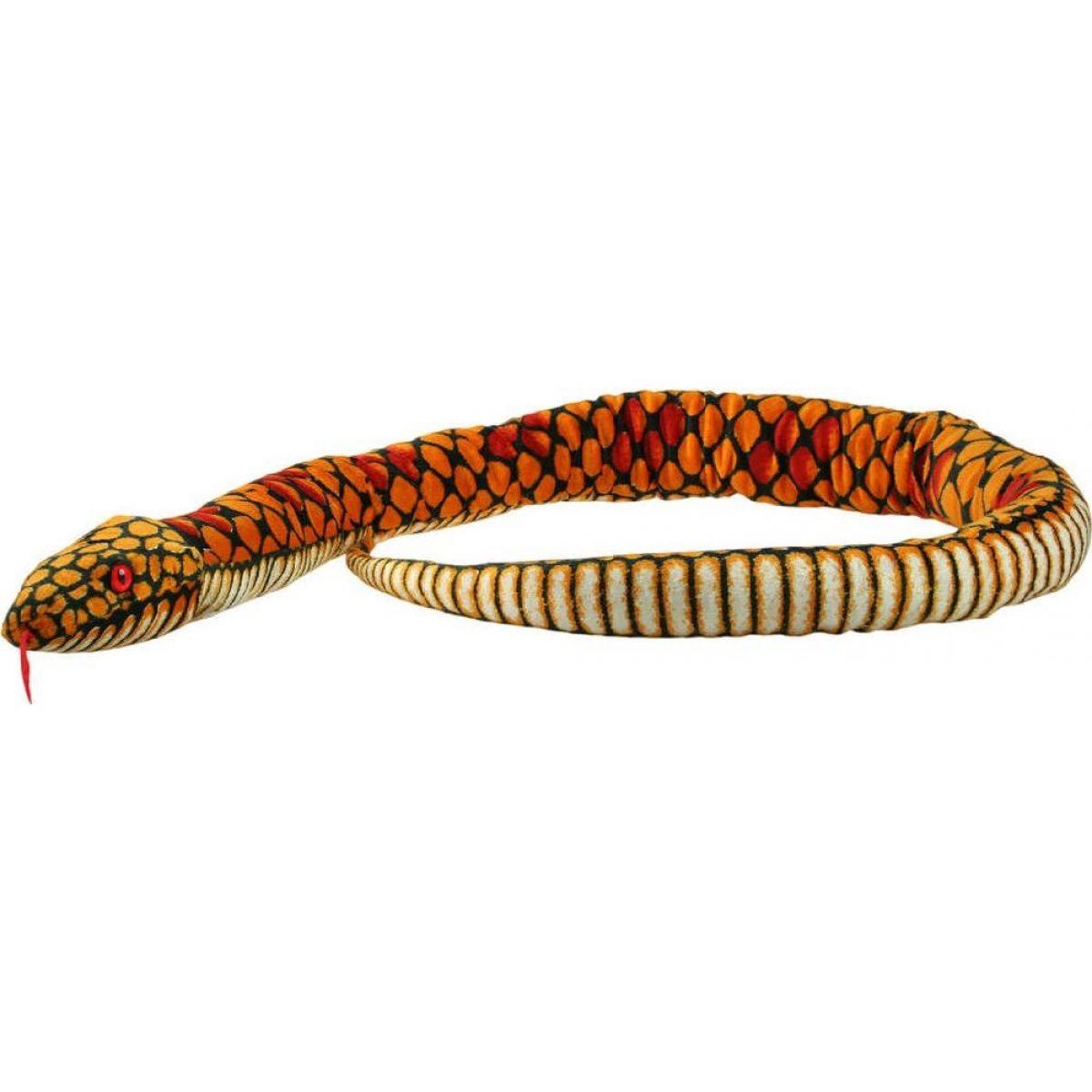 Plyš Had žlutý velký