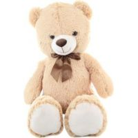 Plyš Medvěd béžový 100 cm