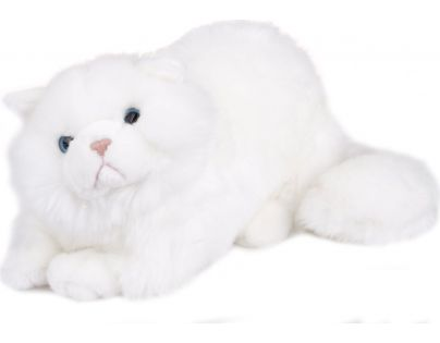 Plyšová kočka 38 cm - Bílá