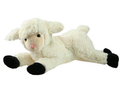 Plyšová Ovečka ležící velká 43 cm - Bíločerná