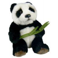 Plyšová panda s listem 16 cm