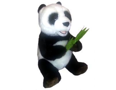 Plyšová panda s listem 28 cm