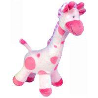 Plyšová žirafa stojící 24 cm - Růžová