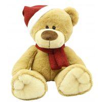 Plyšové zvířátko Medvídek s čepicí 25 cm