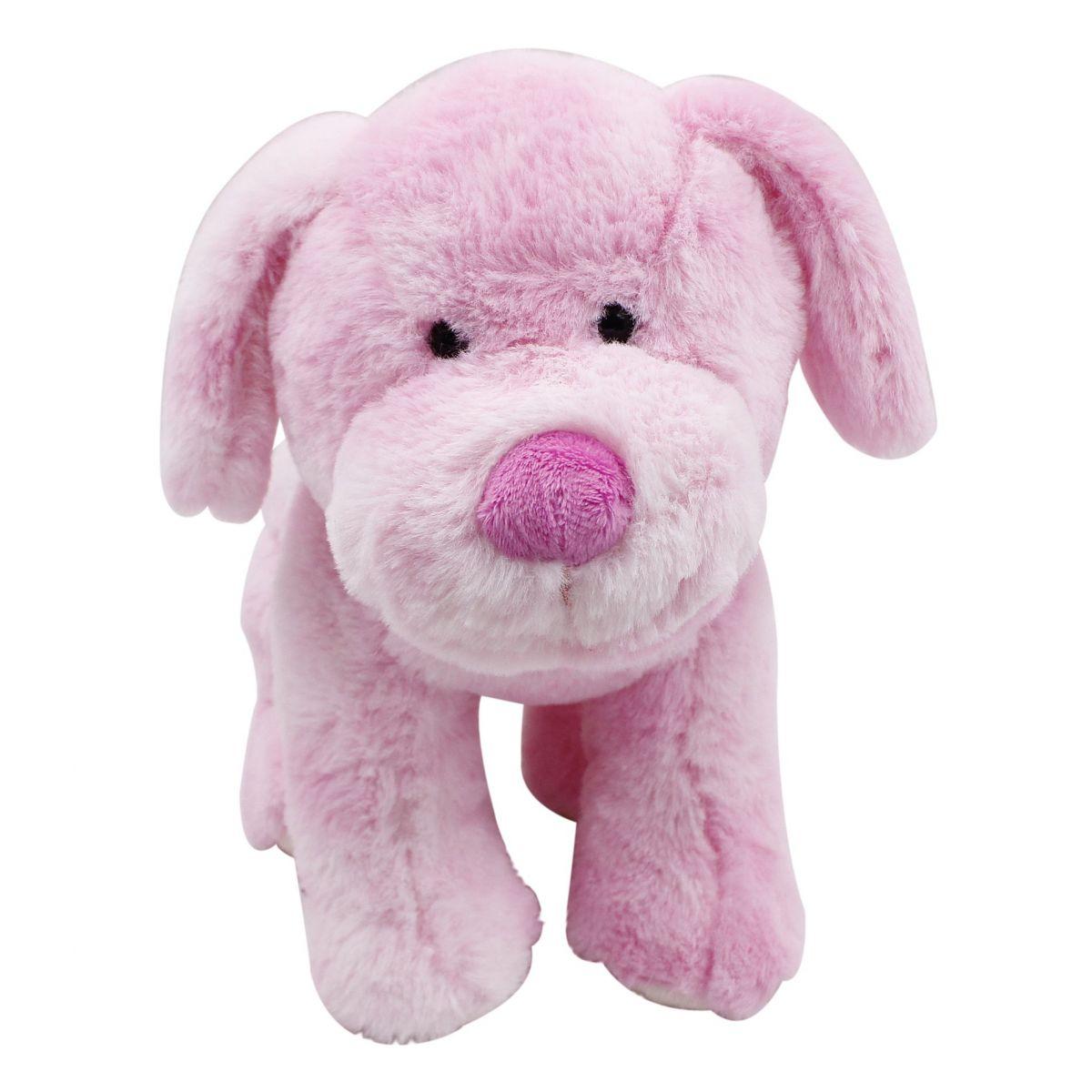 Plyšové zvířátko Růžový pejsek 30 cm