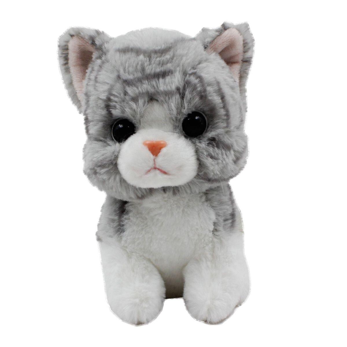 Plyšové zvířátko Šedá kočička 17 cm