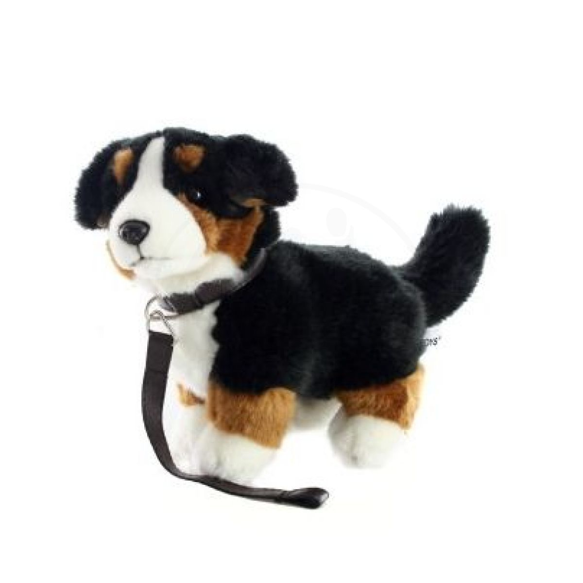Plyšový Bernský salašnický pes s vodítkem
