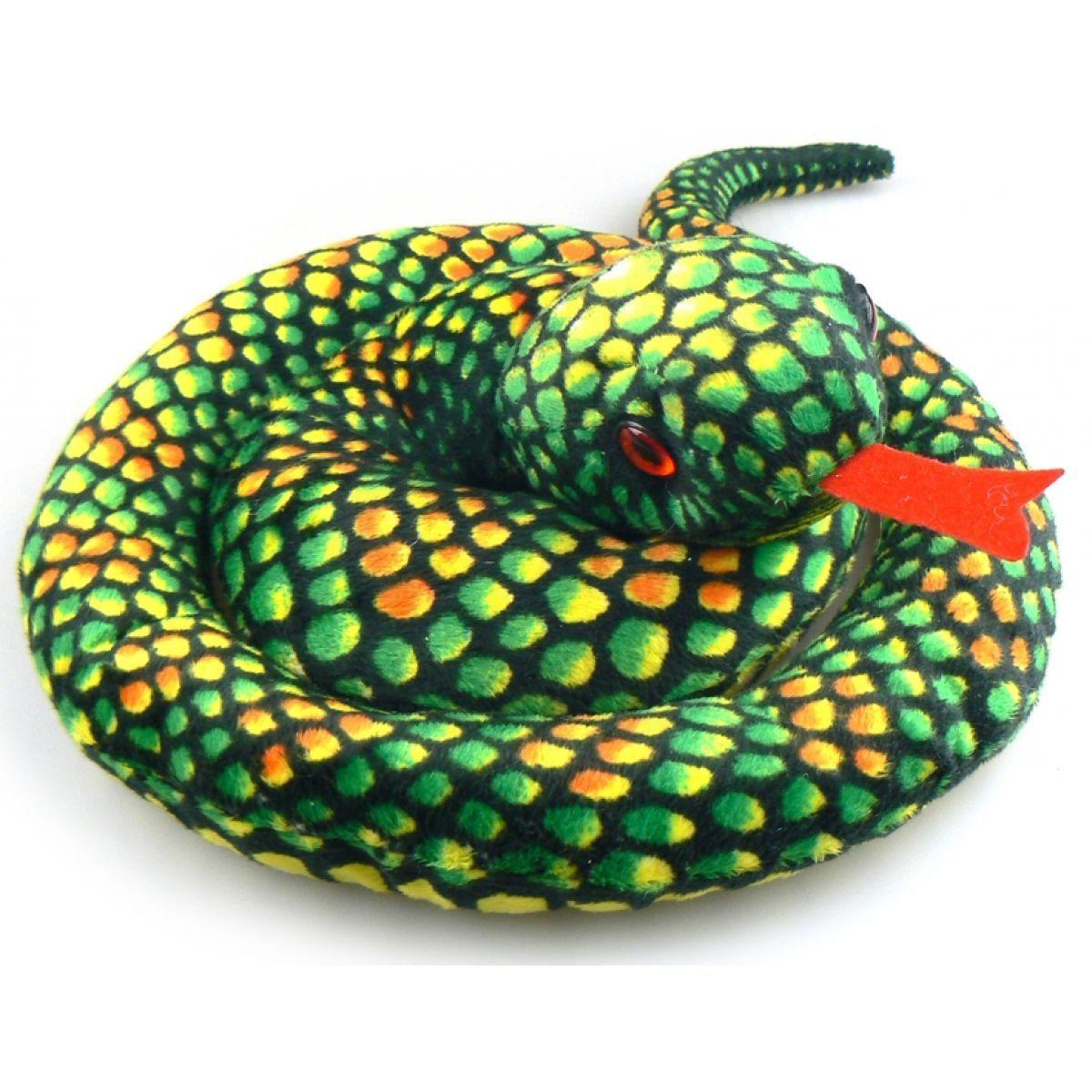 Plyšový Had zelený 110 cm