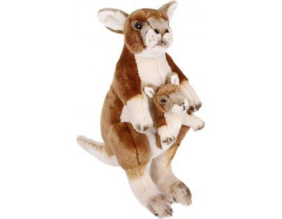 Plyšový klokan s mládětem 40 cm