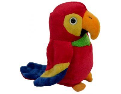 Plyšový papoušek 14 cm