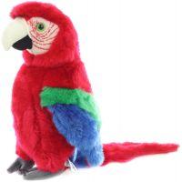 Plyšový papoušek 27 cm červený