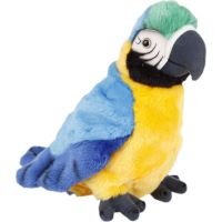 Plyšový papoušek 27 cm modrý