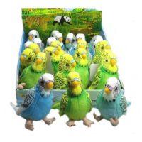 Plyšový papoušek andulka 11 cm 3