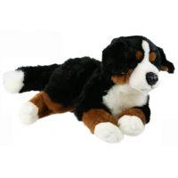 Plyšový pes bernský ležící 40 cm