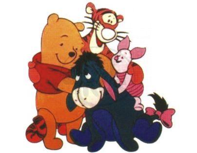 Pěnová dekorace Medvídek Pú a tři přátelé