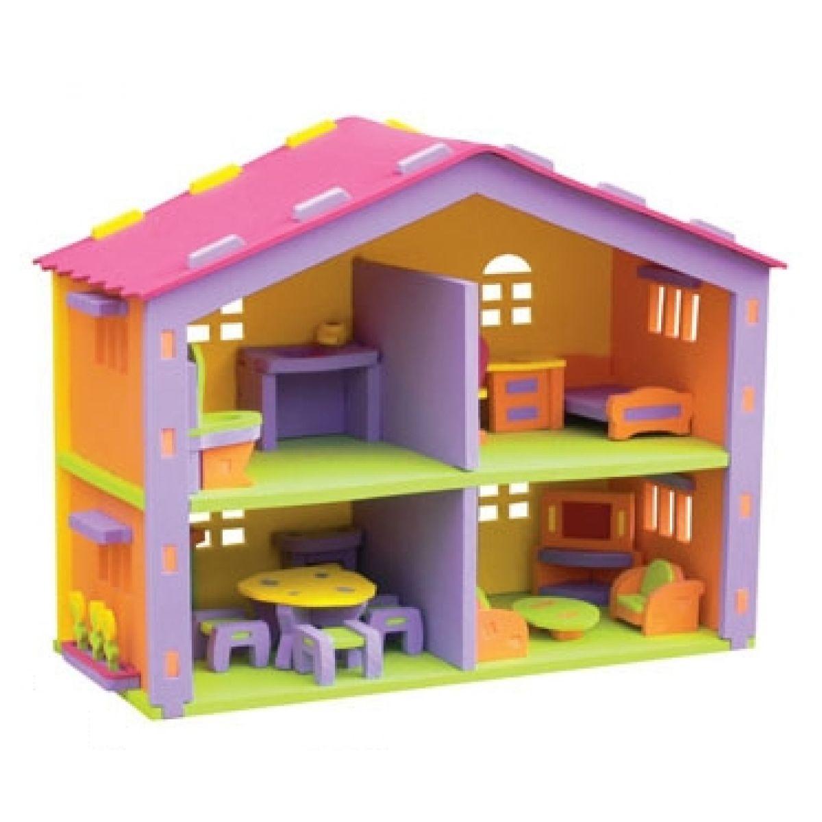 Mac Toys 03833 - Pěnové puzzle - domeček