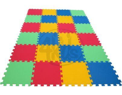 Malý Génius Pěnový koberec 16 mm Maxi 24 dílků pevný - 4 barvy 0