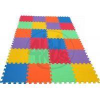 Malý Génius Pěnový koberec 16 mm Maxi 24 dílků pevný - 6 barev