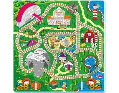 Made Pěnové puzzle Železnice 9ks