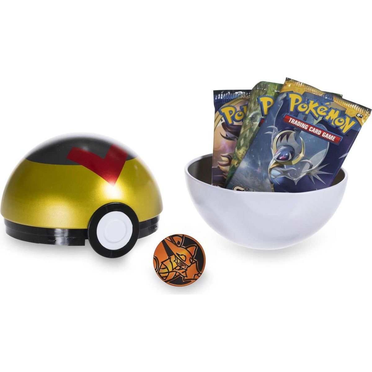 Pokémon TCG Poké Ball Tin SS 2021 zlatý