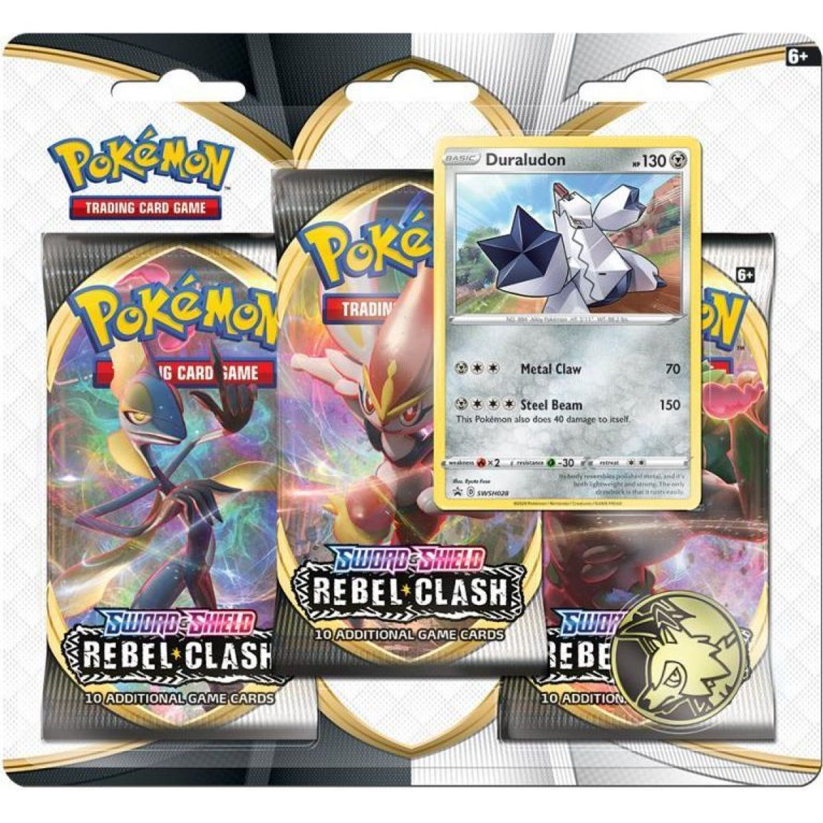 Pokémon TCG  SWSH02 Rebel Clash 3 Blister Booster