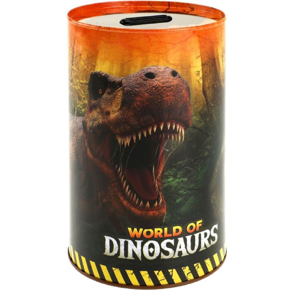 Levně Pokladnička plechový dinosaurus