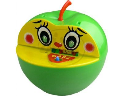 Teddies Pokladnička jablko plast - Zelená
