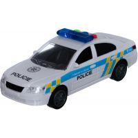 Policejní auto 15 cm se zvukem se světlem na setrvačník