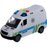 Policejní dodávka 15 cm se zvukem se světlem bílé