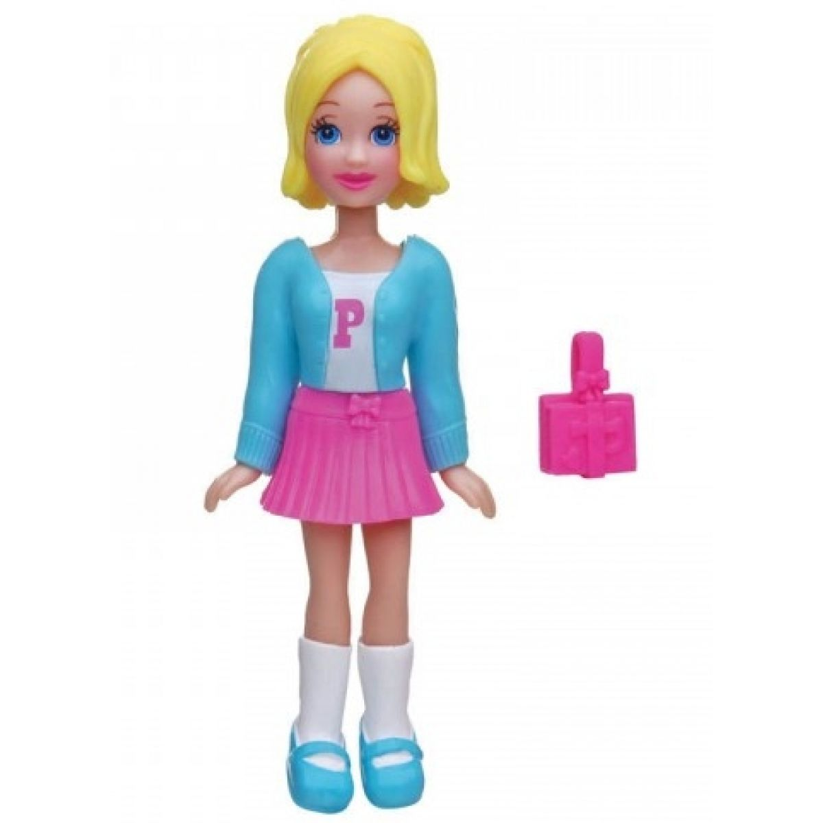 MATTEL Polly Pocket - Základní panenka černá- muffin a kabelka K7704_Y6432