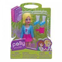 MATTEL Polly Pocket - Základní panenka černá- muffin a kabelka K7704_Y6432 2