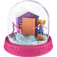 Polly Pocket sněhová koule tmavě růžová